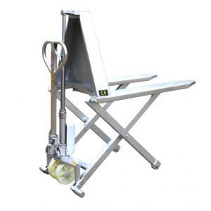 paslanmaz çelik çerçeve yüksek kaldırma makas transpalet